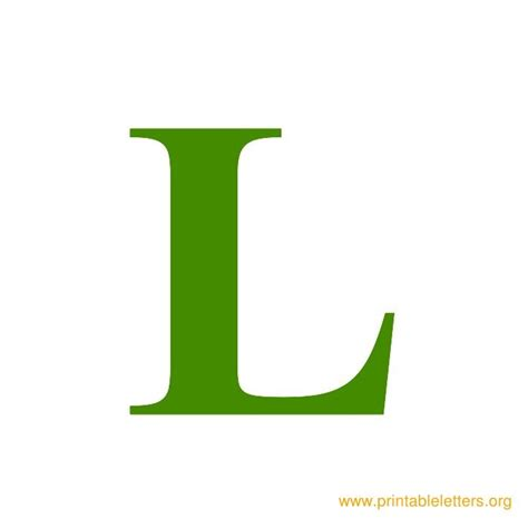 Green L by Printable Wall Letters Printable Alphabet Letters
