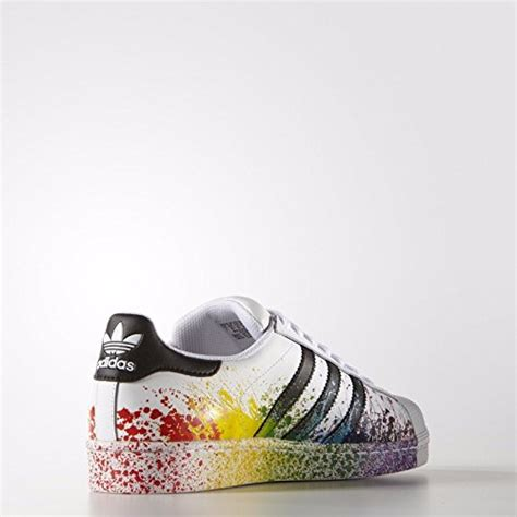 adidas superstar lgbt pride pack  whiteblack