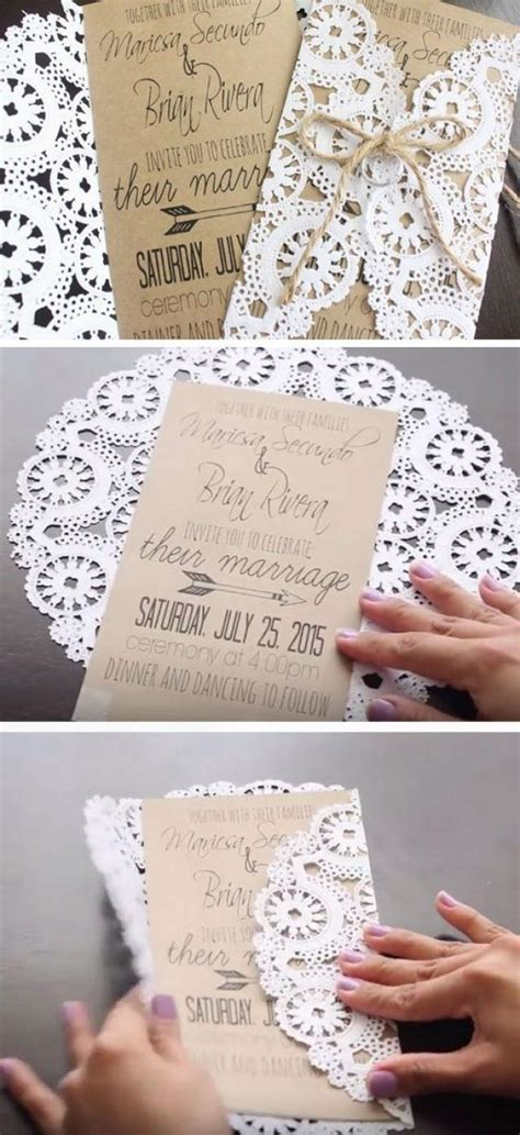 Simple Handmade Wedding Invitations - diy 19 easy to make wedding invitation ideas 2493359