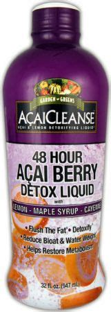 48 Hr Detox Chemist by Garden Greens Acaicleanse 48 Hour Acai Berry Detox At