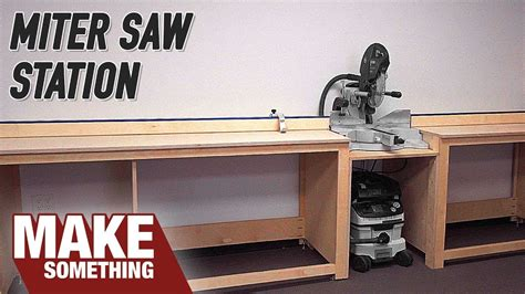 simple miter station build easy shop project youtube
