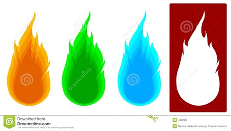imagenes tipo vector vector 4 tipos de fuego foto de archivo imagen 488290