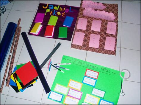 desain jadwal pelajaran kreatif neng sunda organigram kelas