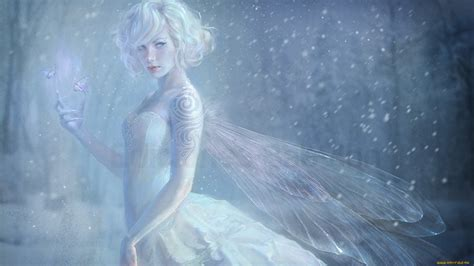 fairytale snow snow fairy full hd wallpaper and background image