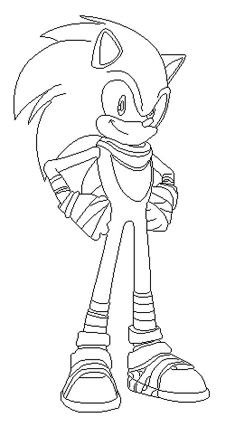 sonic boom free coloring pages