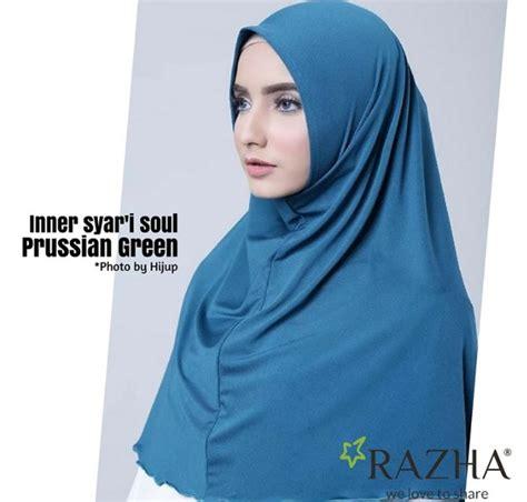 Ciput Soul Anti Prussian Green Razha inner syar i soul jilbab orin