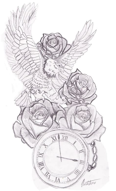 time tattoo designs time waits for no drawing