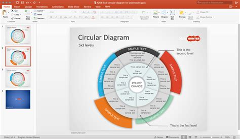 Free Free Multi Level Circular Diagram Powerpoint Template Ppt Template Free With Diagram