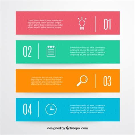 minimalist design banner decorative infographic banners in minimalist style vector