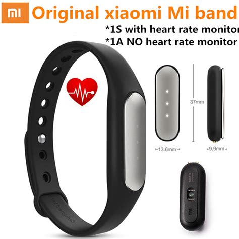 Xiaomi Mi Band 1s Pulse With Rate Monitor 2 original xiaomi mi band 1s 1a smart wristbands miband rate monitor fitness tracker pulse