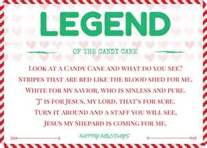 New printable legend of the candy cane christmas cards print for free