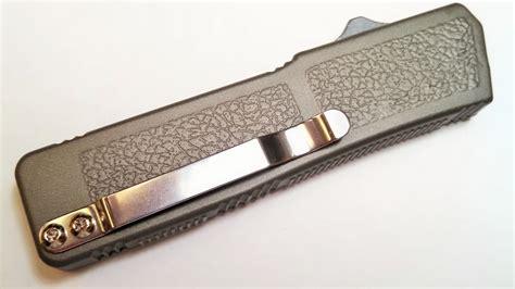 single otf knives grey plain lightning d a otf knife