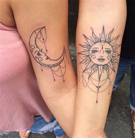 where can you get a tattoo at 16 best 24 sun and moon tattoos design idea for and