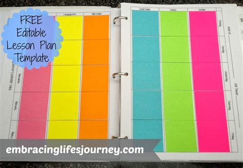 templates for lesson plan books so cute and useful with our crazy ever changing