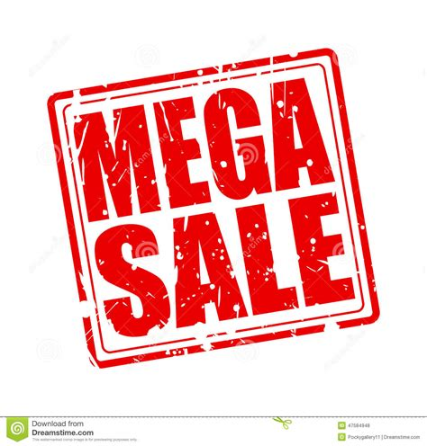 a for all time sale mega sale st text stock vector image 47584948