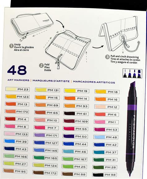 prisma color markers prismacolor markers set 48 w