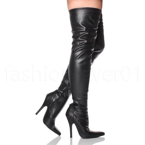 womens high heel boots womens high heel pointed knee thigh high
