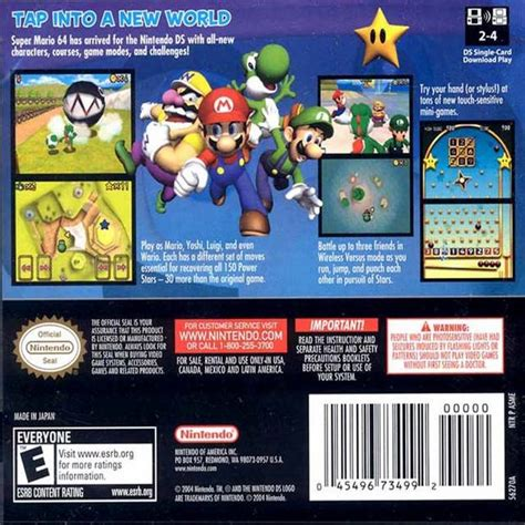 Shiny Review Mario 64 For The Ds by Mario 64 Ds Box For Ds Gamefaqs