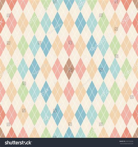 seamless argyle pattern argyle seamless pattern retro background stock vector