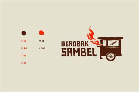 gerobak sambel logo design  behance