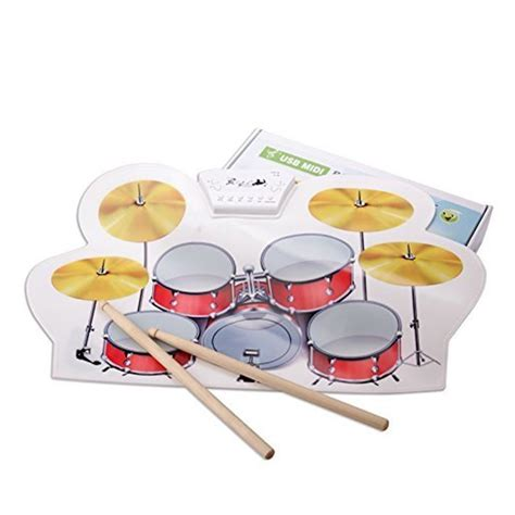 Usb Roll Up Drum Kit midi usb drum kit pc desktop roll up drum pad portable with drumsticks ebay