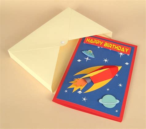 rocket card template a4 card templates 3d space rocket card by card