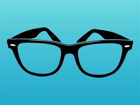 glass svg ray ban logo on glasses
