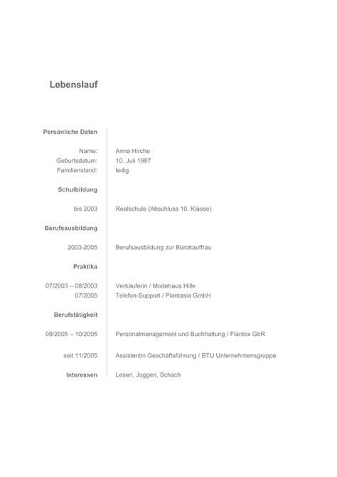 Lebenslauf Vorlage Einfach Word Bewerbung Musterbewerbung Verk 228 Uferin Bewerbung Vorlage