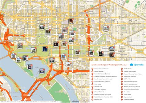 washington dc map of attractions file washington dc printable tourist attractions map jpg