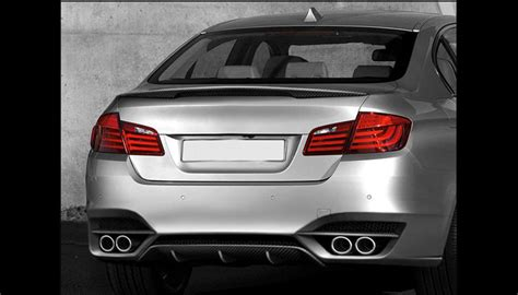 bmw trunk accessories bmw f10 5 series trunk spoiler 2011 nr automobile