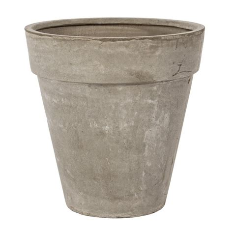 vaso cemento vaso cemento classico sabbia 55h mondobrico giardino