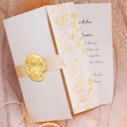 gold flowers folded wedding invitations zdi05 zdi05 0 00 invitation store