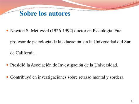 Modelo De Evaluacion Curricular Presentaci 243 N Modelo De Evaluaci 243 N Curricular Metfessel Y Michael Por