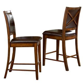 Scrollback With Nailhead Counter Stool Ave Six by Frisco Bay Burnished Oak 24 Inch Counter Chairs By