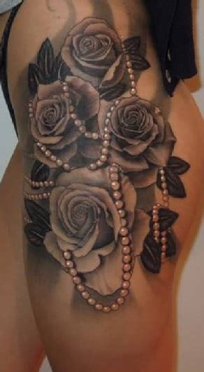 black rose tattoo on leg leg tattoos insider