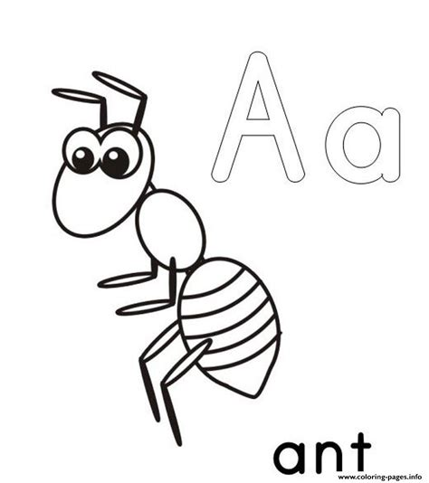 ant coloring pages a for ant alphabet s printable17f25 coloring pages printable
