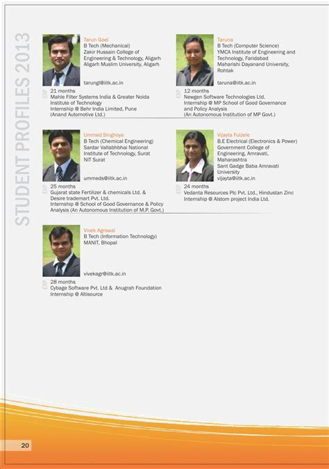 Ymca Mba Placement by Issuu 001 Iit Kanpur Placement Brochure 2012 By Element94