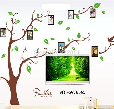 Wall Sticker Uk 60x90 Wall Stiker Dinding Perangko Hiasan Dinding jual frame tree ay9063c wall sticker transparan uk 60x90