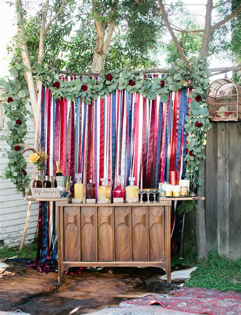 Bohemian Backyard by Bohemian Backyard Bridal Shower Inspiration Green