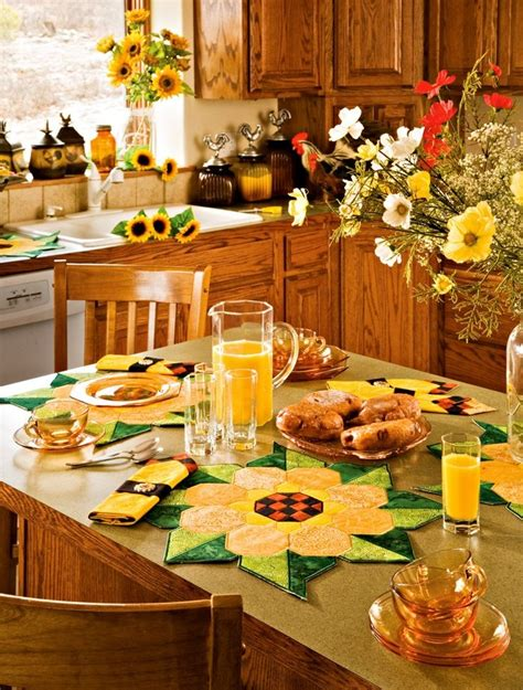 themed kitchen ideas sunflower kitchen decor ideas for modern homes