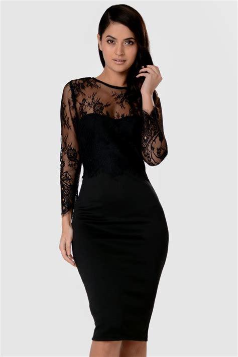 Sleeve Lace Dress black dress with lace sleeves naf dresses