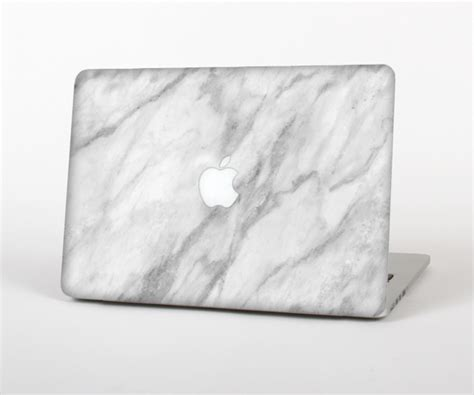 Macbook Pro 13 Marble White White 1 the white marble surface skin set for the apple macbook pro 15 quot with r design skinz inc