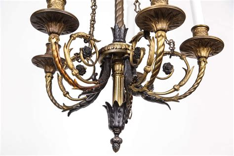 Chains For Chandeliers Bronze Five Candle Floral Design Chandelier With Chains For Sale At 1stdibs