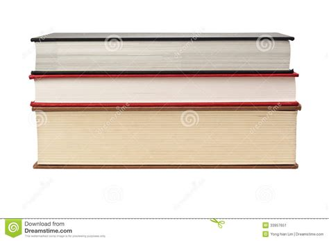 edge of books fore edge of stack of three books stock image image