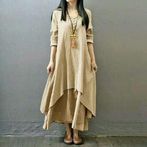 Baju Wanita Dress Panjang Bagus baju dress panjang dress gamis susun polos modern