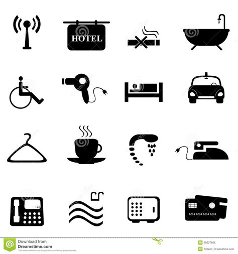 Wheelchair Accessible House Plans Hotel Icons In Black Royalty Free Stock Image Image