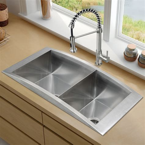 sinks kitchen vigo platinum series topmount kitchen sink combo