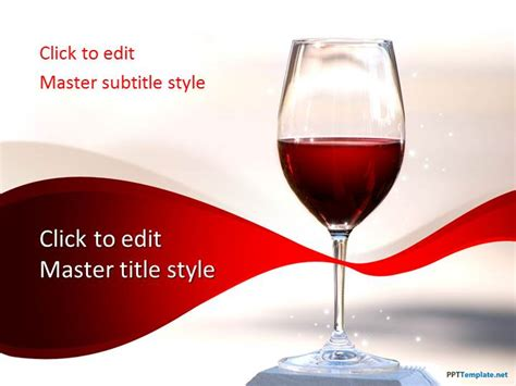 powerpoint templates free wine free red wine ppt template