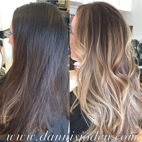 haircuts denver colorado blonde balayage ombr 233 and long layered haircut styled with