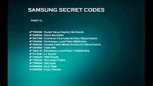 Samsung secret codes youtube